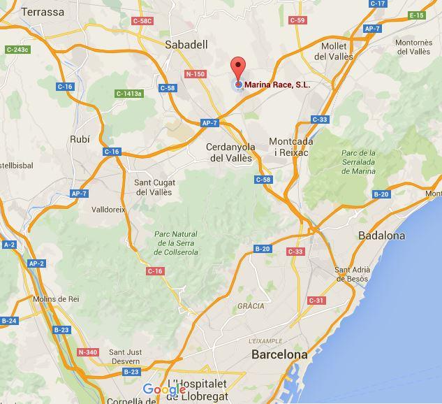 Mapa Marina Racewear