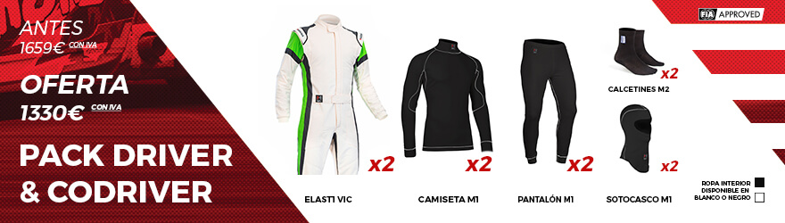Pack DRIVER & CO-DRIVER ELAST1 VIC F01